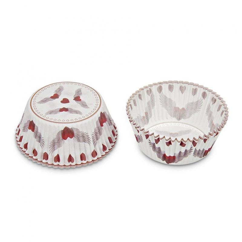 Muffinsforme flyvende hjerter (50 stk.)