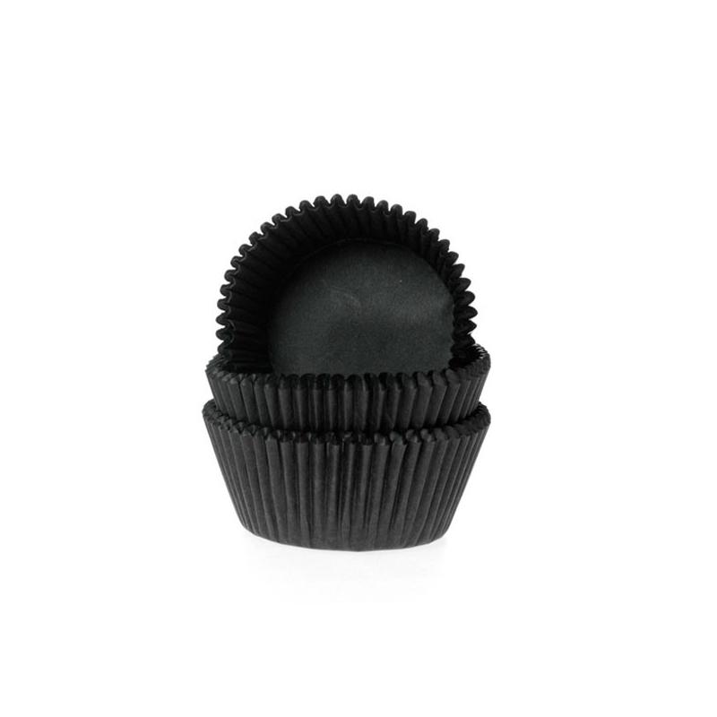 Mini muffinsforme sort - ekstra tykt papir (60 stk.)