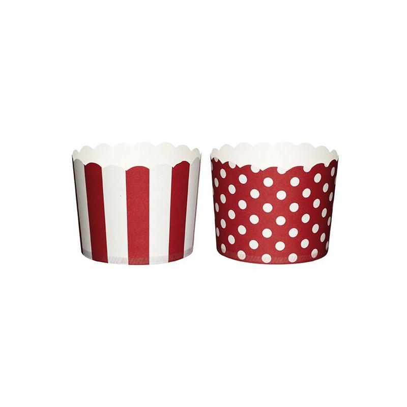 Papirforme, røde/hvide, 6,5 cm (20 stk.)