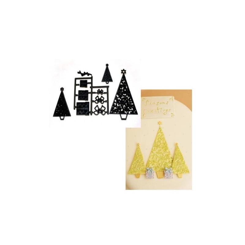 Patchwork Cutters juletræer og gaver (10 dele)
