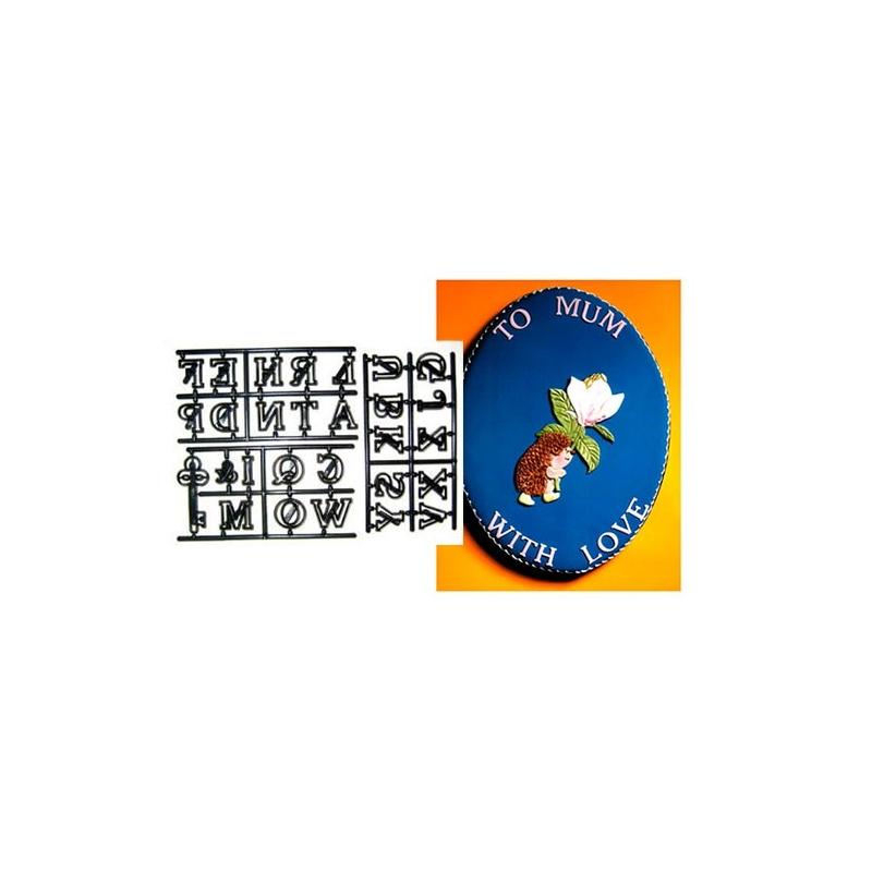 Patchwork Cutters alfabet og nøgle (28 dele)
