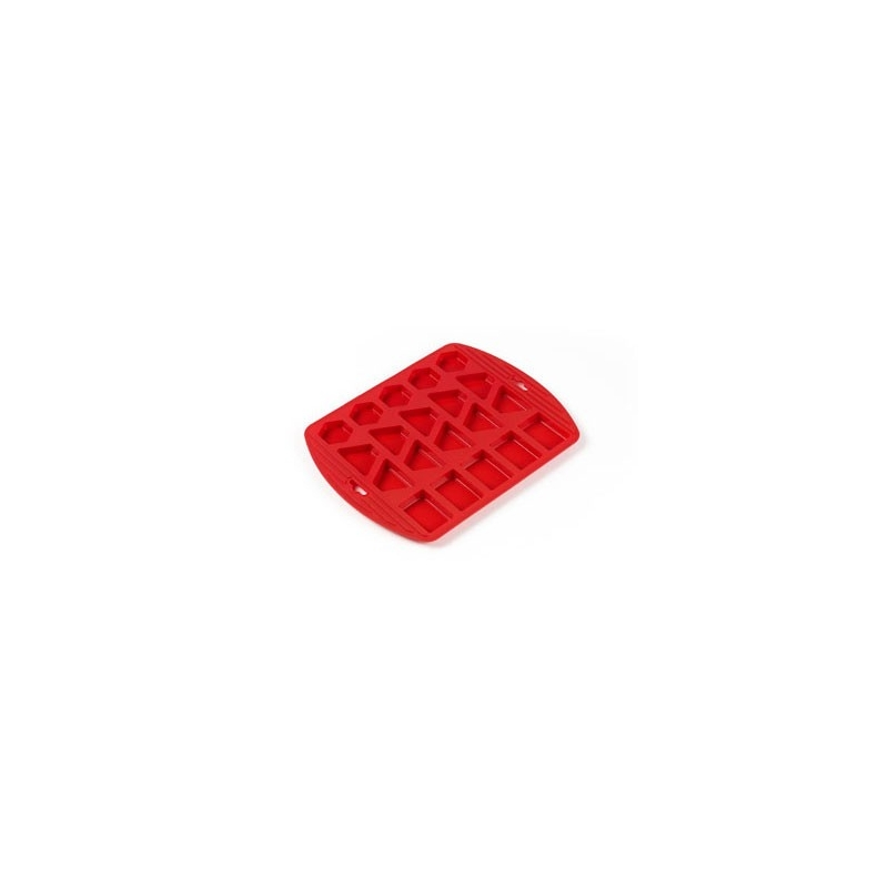 Petit fours form - rød silikone (til 20 stk.)