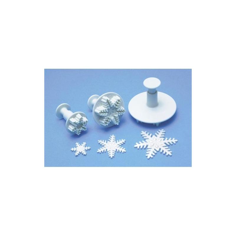 Plunger udstikker snefnug - large, ca. 6,5 cm