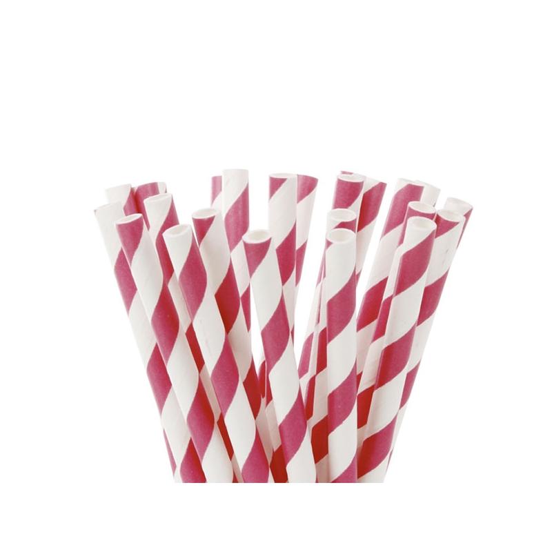 Image of   Popcakes pinde pink striber - 15 cm (20 stk.)