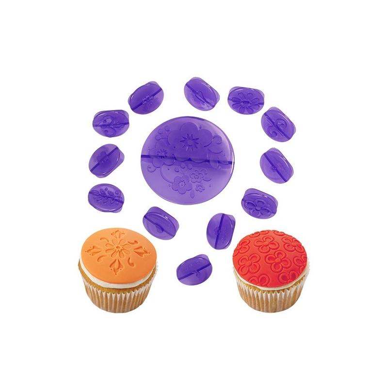 Prægersæt til cupcakes, blomster (14 stk.)