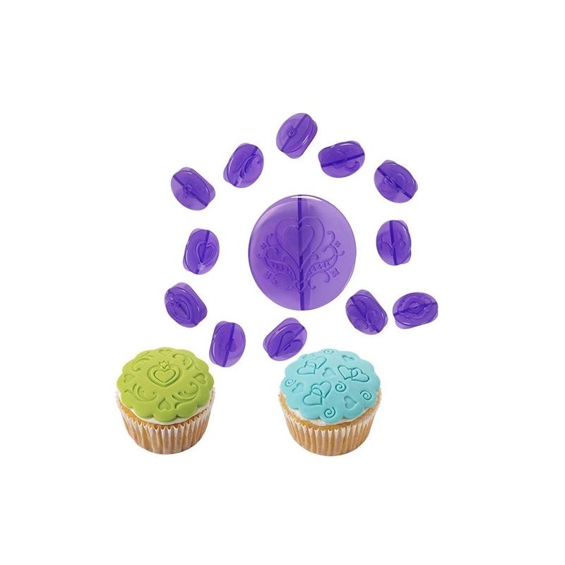 Prægersæt til cupcakes, hjerter (14 stk.)