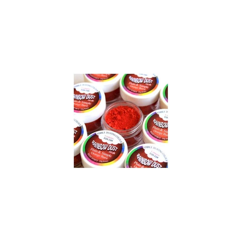 Image of   Pulverfarve rød/orange - 2 gram