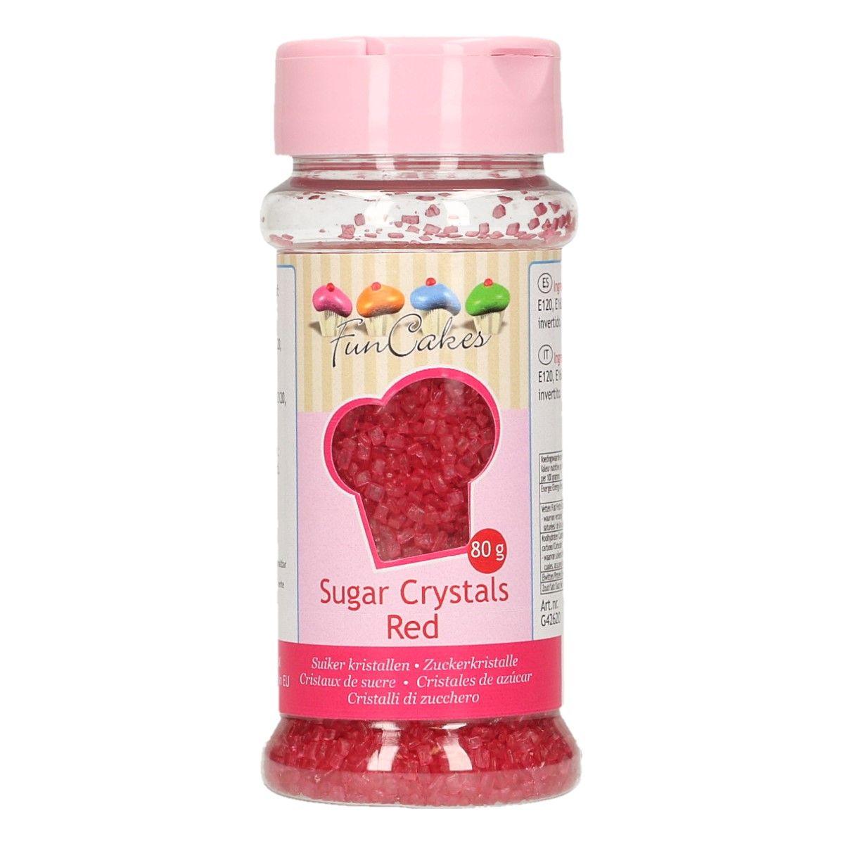 Image of   Farvet sukker rød - 80 gram