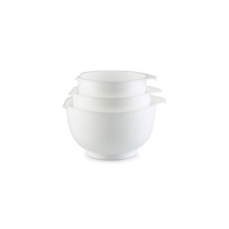 Røreskålsæt m/mål hvid (3 stk.)