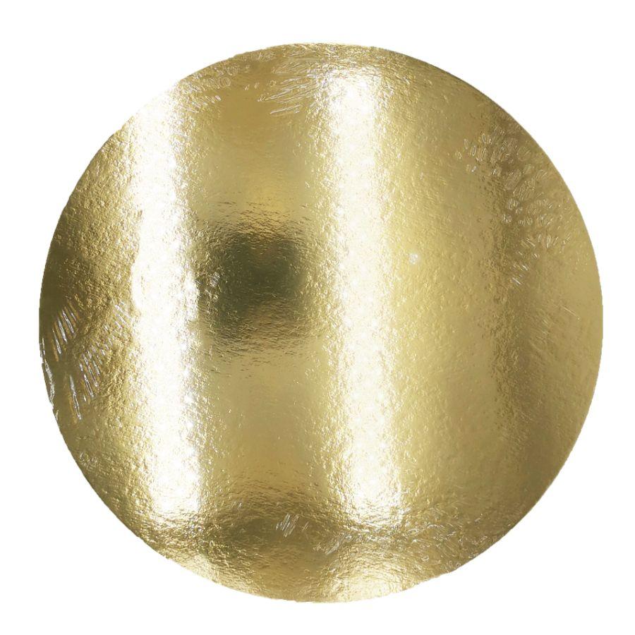 Image of Kagepap rund 26 cm - sølv/guld, 1 mm tyk (3 stk.)