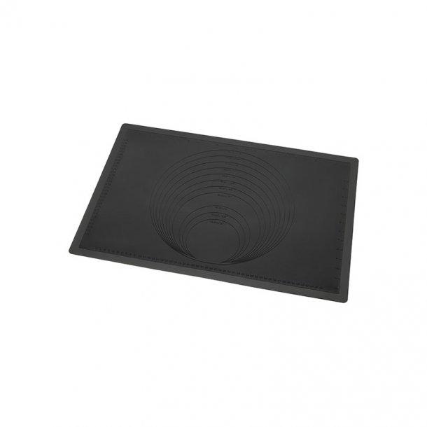 Silikone bagemåtte - sort, 60x40 cm