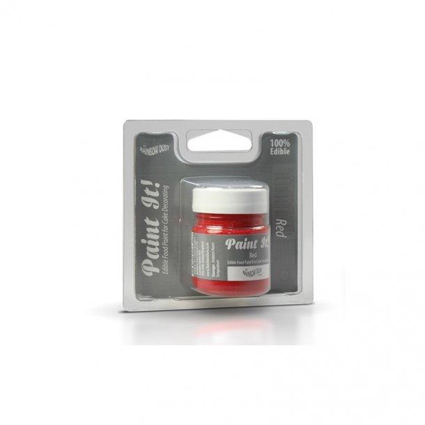 Spiselig maling rød - 25 ml