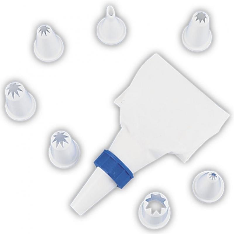 Sprøjtepose og tyller sæt (9 dele)