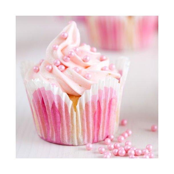Sukkerperler lyserød - 4 mm - 80 gram