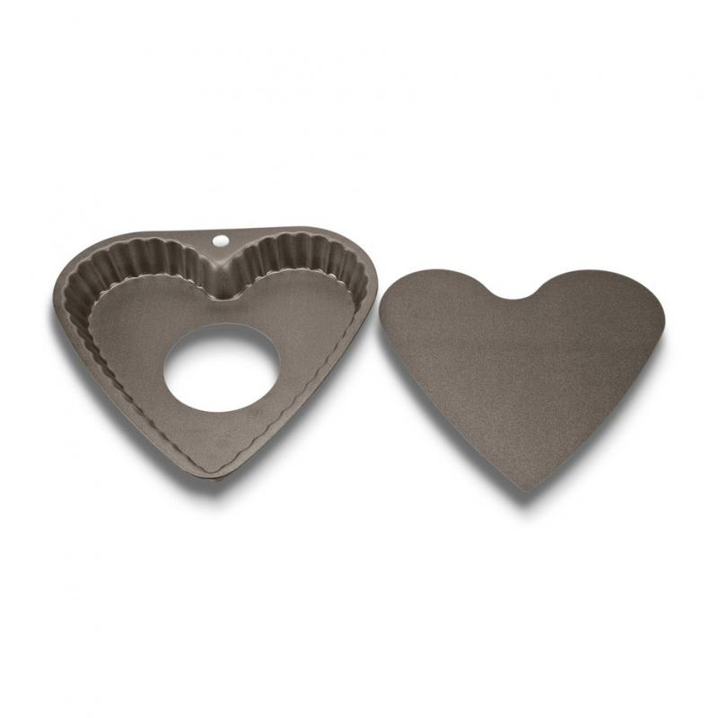 Tærteform m. løs bund hjerteformet - 23 cm
