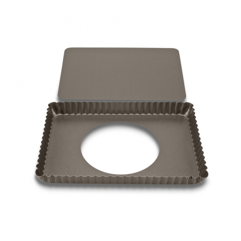 Tærteform m. løs bund rektangel - 29x20 cm