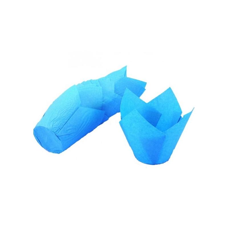 Tulipan muffinsform blå (200 stk.)
