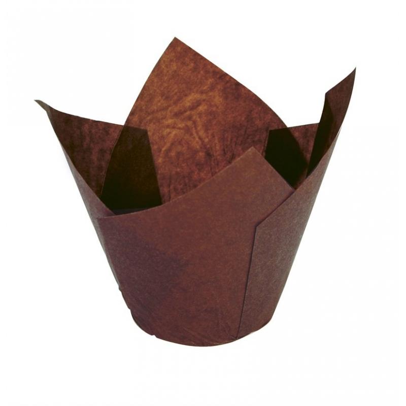 Tulipan muffinsform brun (125 stk.)