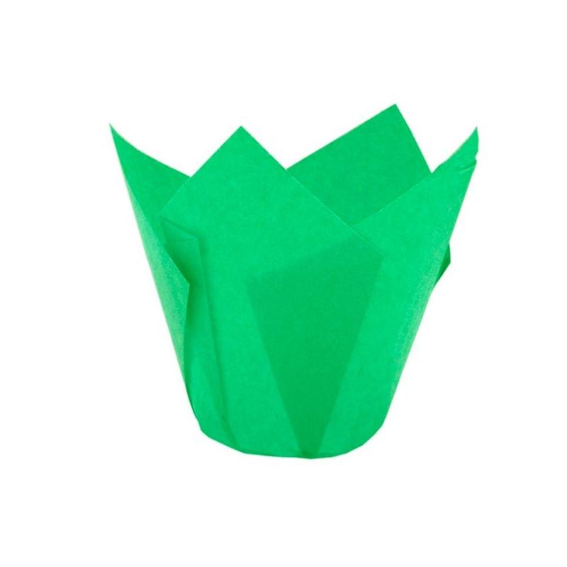 Tulipan muffinsform grøn (200 stk.)