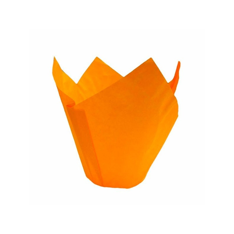 Image of   Tulipan muffinsform orange (200 stk.)