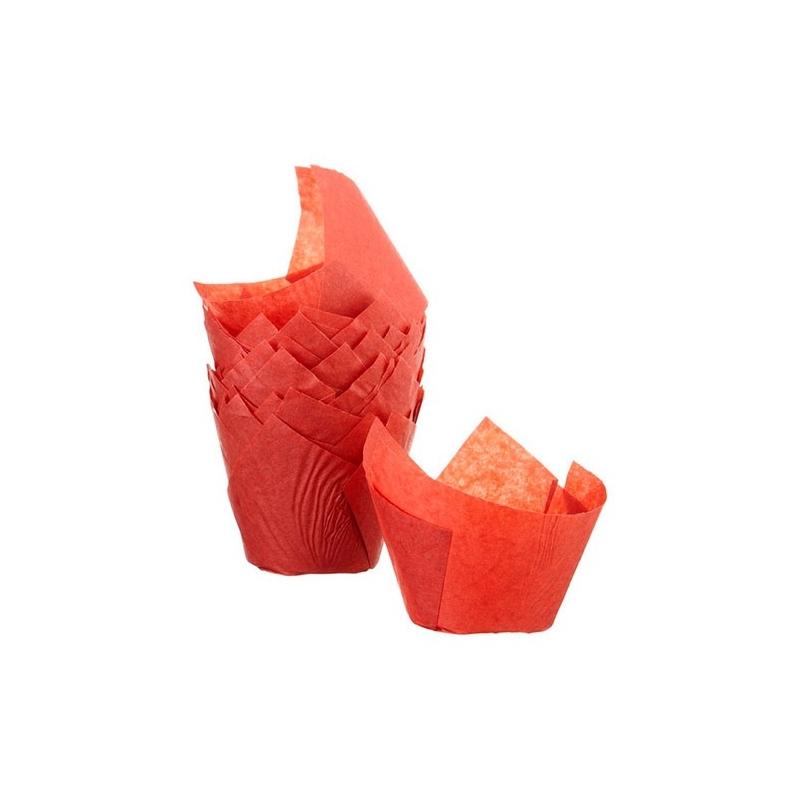 Tulipan muffinsform rød (200 stk.)