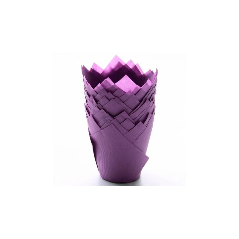 Image of   Tulipan muffinsform violet (200 stk.)