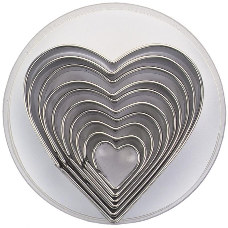 Udstikkersæt hjerter (10 stk.)