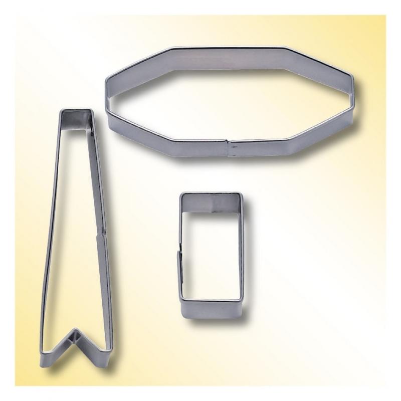Udstikkersæt sløjfer - 3-7 cm (3 dele)
