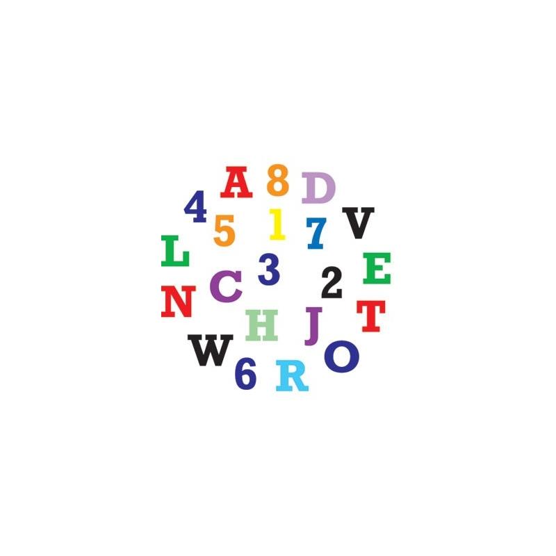 Udstikkersæt store bogstaver og tal
