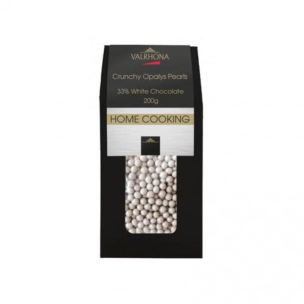 Valrhona Crunchy Opalys Pearls - 200 gram