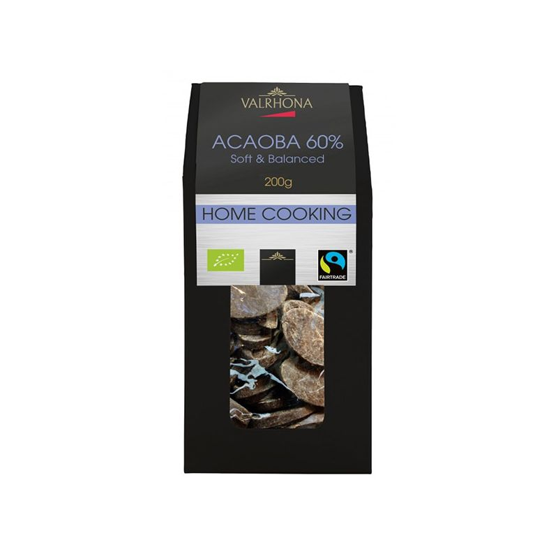 Image of   Valrhona Feves Acaoba - 60%, 200 g.