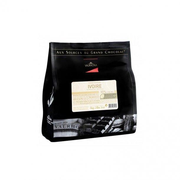 Valrhona Feves Ivoire - 35%, 1 kg