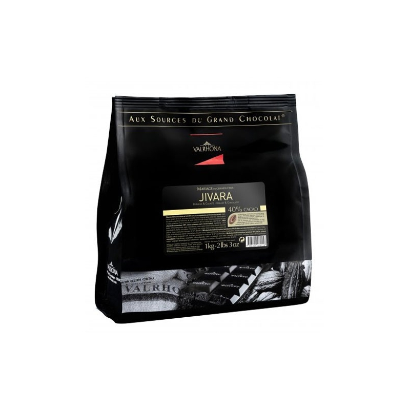 Image of   Valrhona Feves Jivara - 40%, 1 kg